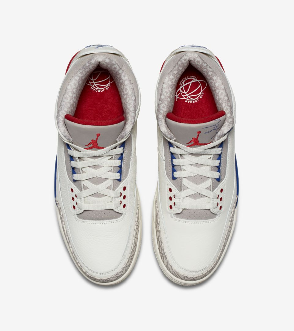 【NIKE公式】エア ジョーダン 3 'Sail and Sport Royal and Fire Red' (136064-140 / AJ3)