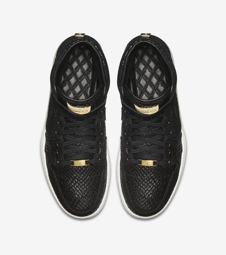 new product ec41b b61fe Air Jordan 1 Retro Pinnacle 'Black & Metallic Gold ...