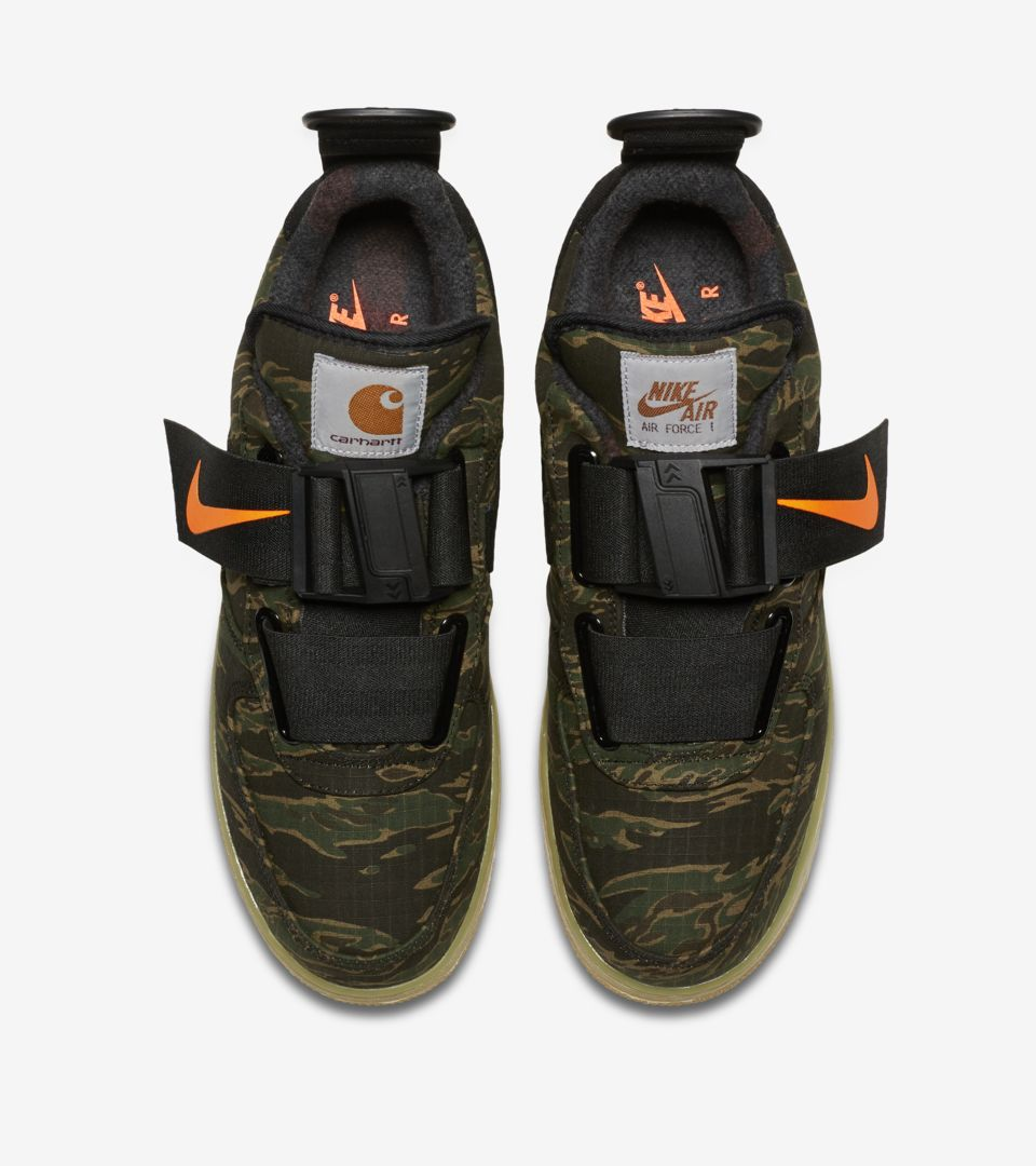 Air Force 1 Utility Low Premium Carhartt WIP 'Camo Green & Gum Light Brown & Total Orange' Release Date