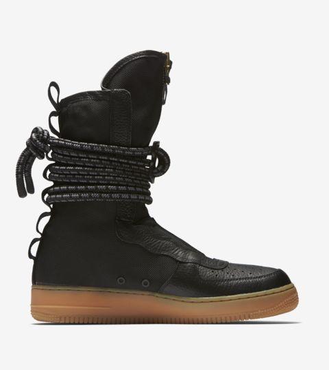 Nike SF Air Force 1 Hi Black Black Gum Med Brown | Footshop