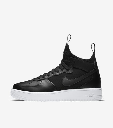 Nike Air Force 1 Ultra Force Mid 'Black & White'. Nike