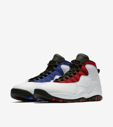 blue white red jordans