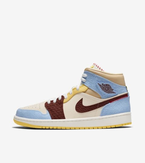 air jordan 1 mid rouge bleu