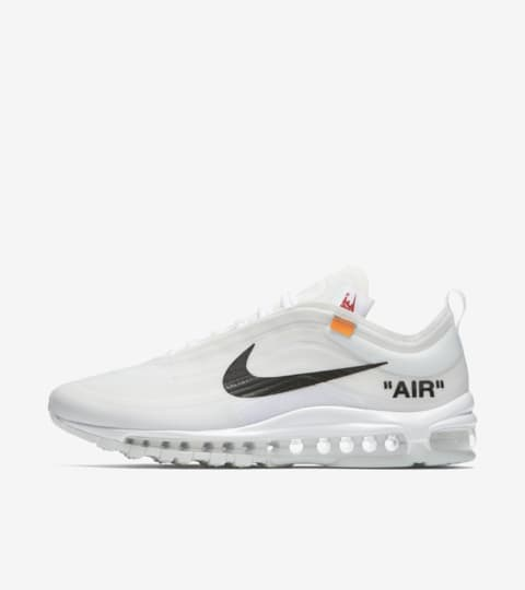 air max 97 x off white bianche