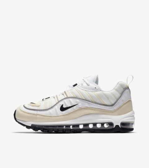 "Buty damskie Nike Air Max 98 ""White & Black & Fossil"