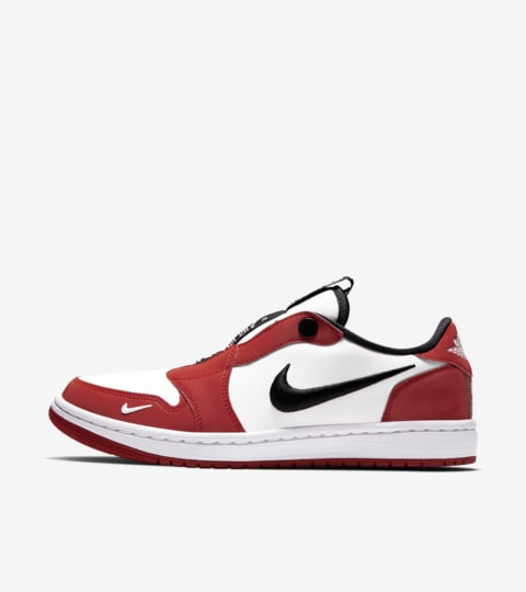 Women's Air Jordan 1 Slip Low Chicago 'Varsity and Red and