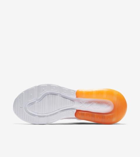 nike air max 270 'jdi' trainer white / black / total orange