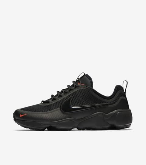 Nike Air Zoom Spiridon « Black \u0026amp; Bright Crimson ». Nike SNKRS LU