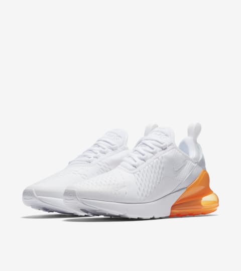 air max 270 all white orange