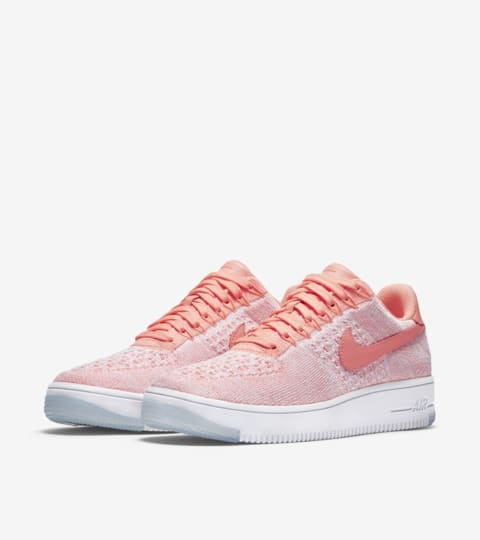 nike air force flyknit rosa