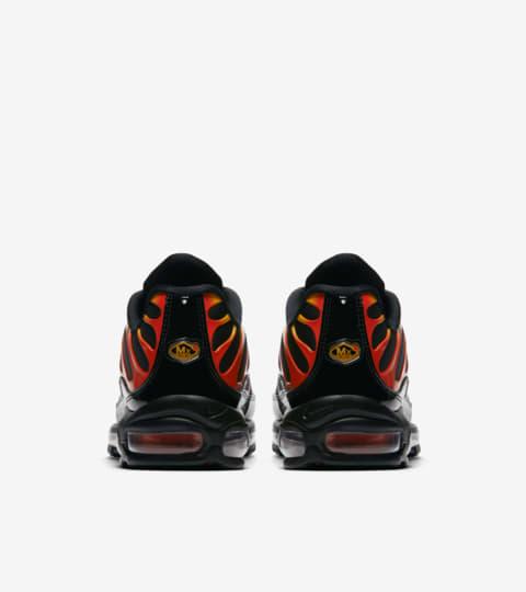 nike air max 97 plus black/engine 1/shock orange/black