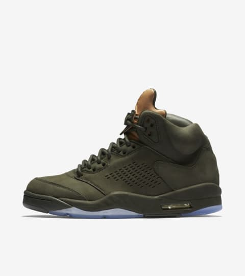 "Air Jordan 5 Retro ""Sequoia & Vachetta Tan"". Nike"