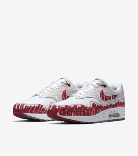air max 1 rood wit