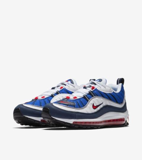 air max 98 blue and white