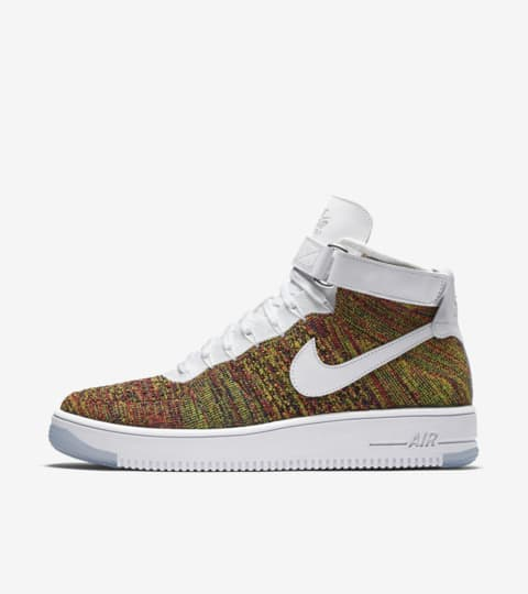 nike air force 1 flyknit multicolor