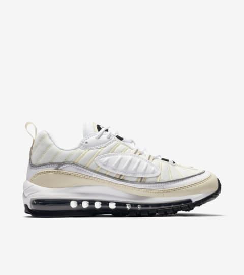 Date de sortie de la Nike Air Max 98 « White & Black ...