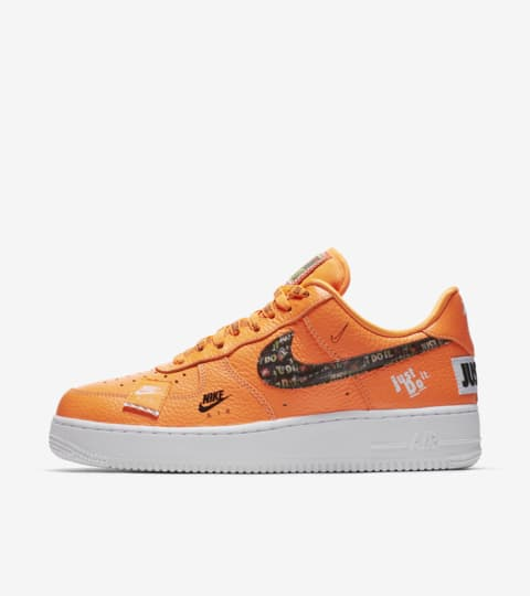 nike air force 1 neon orange swoosh