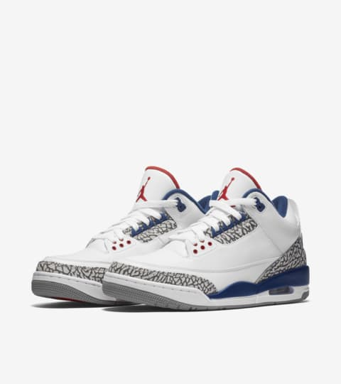 Jordans 3 Air Jordan 3 Retro OG 'White & Cement Grey & Blue'. Nike SNKRS