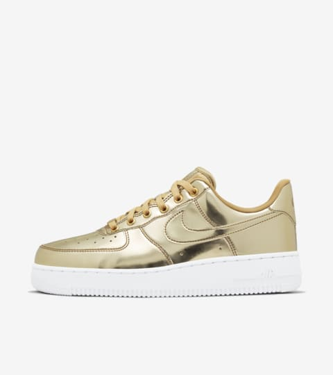 Women's Air Force 1 Metallic 'Gold' Release Date. Nike ...