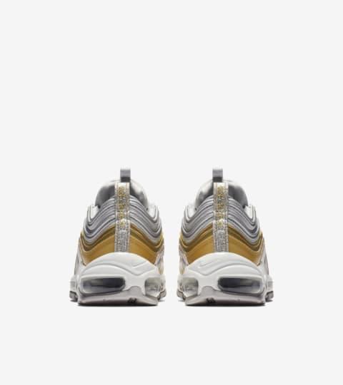 nike air max 97 silver gold