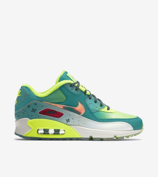 Women's Nike Air Max 90 Premium Doernbecher 'Green & Volt