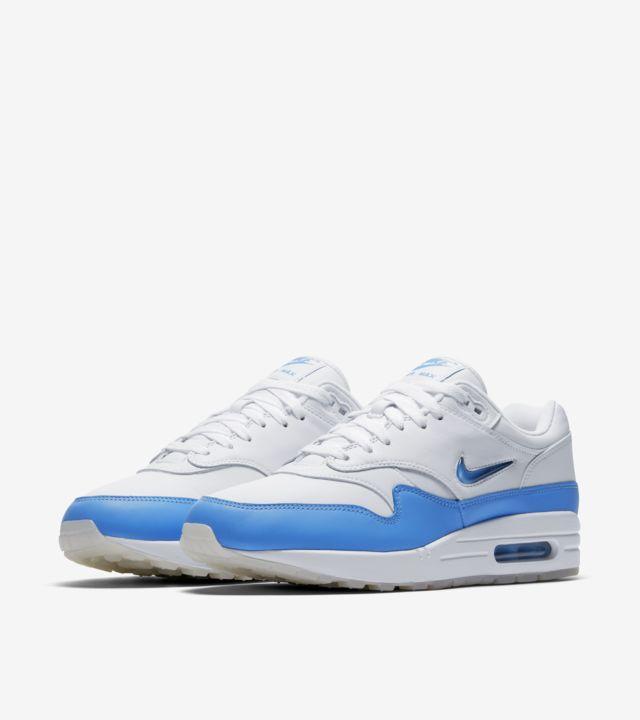 nike air max 1 blue bianca