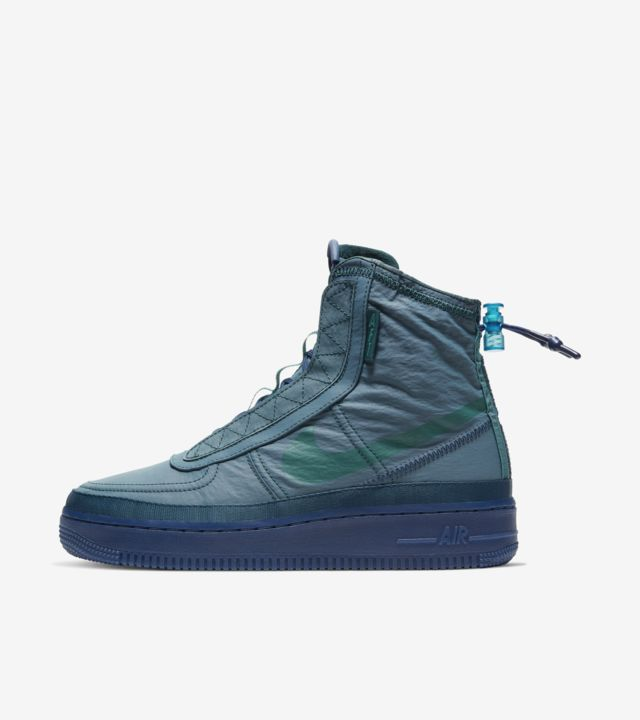 Women's Air Force 1 Shell 'Midnight Turquoise' Release Date