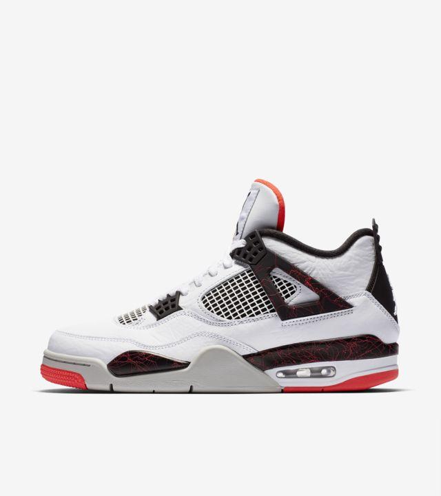 Air Jordan 4 'White & Bright Crimson & Black