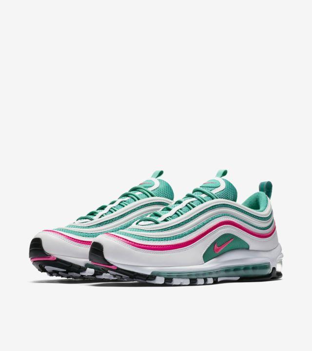 nike 97 white green pink