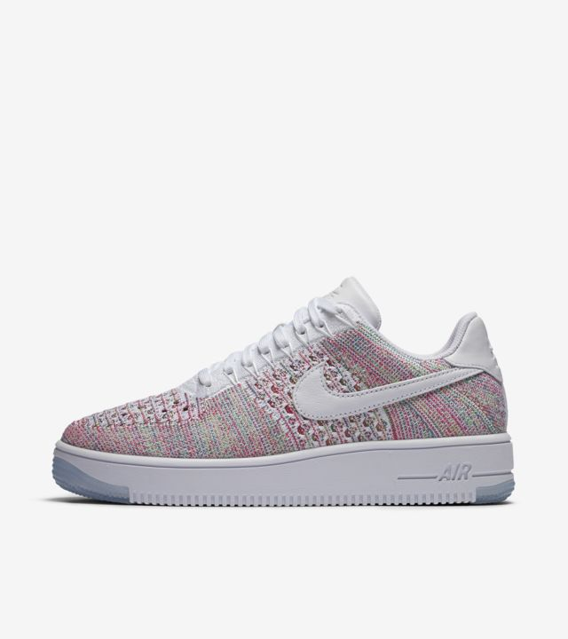 Nike Air Force 1 Ultra Flyknit Low Size 10 Multicolor White