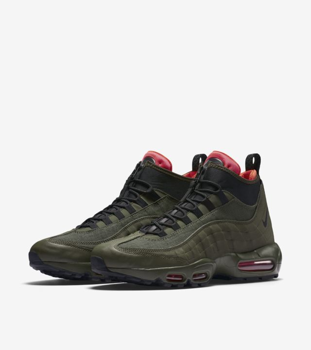 Nike Air Max 95 Sneakerboot 'Dark Loden & Cargo Khaki'. Nike