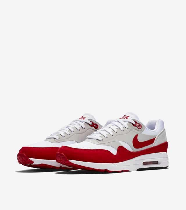 Nike WMNS Air Max 1 Ultra Flyknit (White University Red)