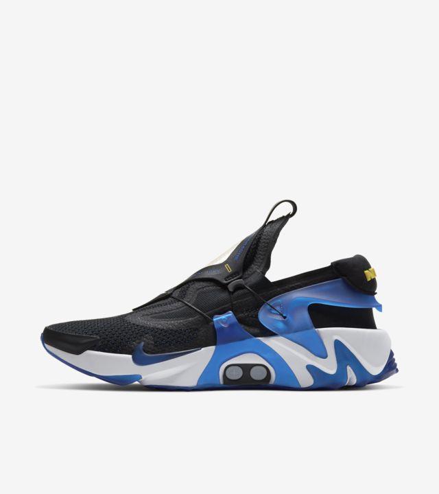 Date de sortie de la Nike Adapt Huarache « Black/Racer Blue