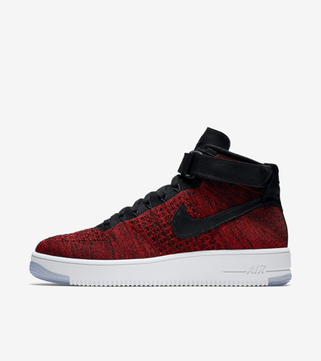 Nike Air Force 1 Ultra Flyknit 'University Red & Black