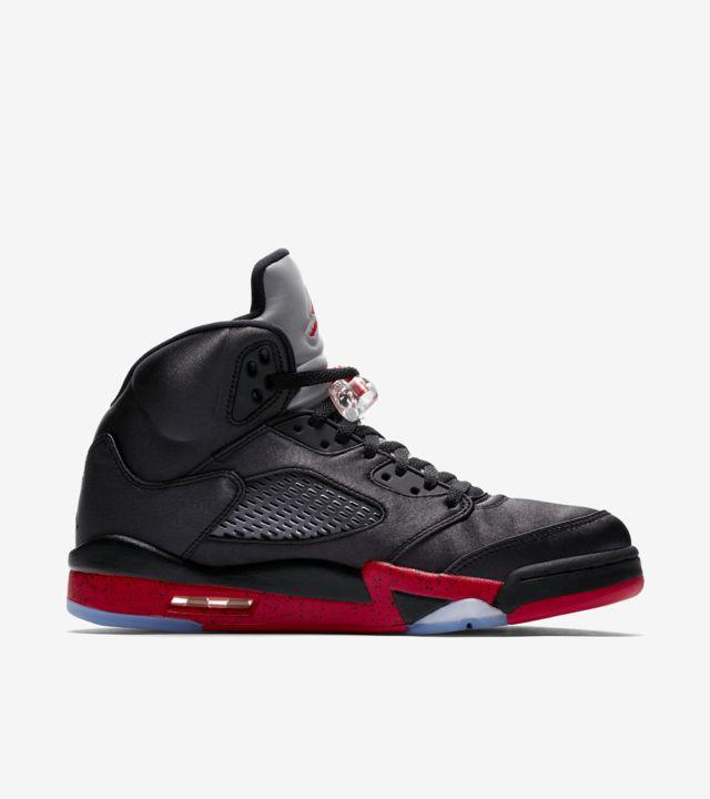 Air Jordan 5 'Black & University Red' Release Date. Nike SNKRS
