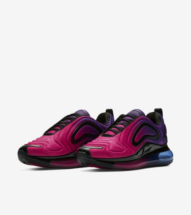 Details about Nike Women's Air Max 720 Sunset Pink Hyper Purple Blue Black AR9293 500 Size 6