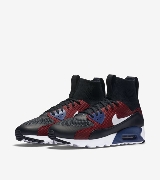 Nike Air Max 90 Ultra Superfly in Black,Blue,Red,White (Red