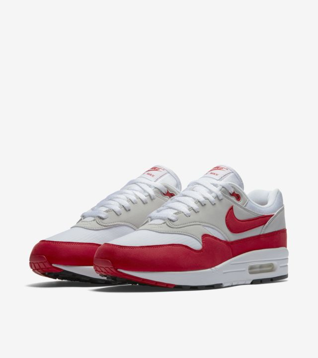 nike air max 1 red bianca grey
