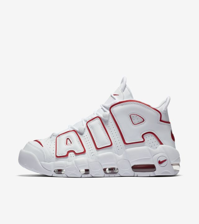 Nike Air More Uptempo 'White & Varsity Red' Release Date