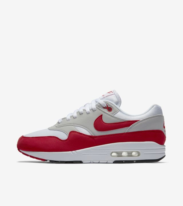 Nike Air Max 1 Anniversary 'White & University Red'. Nike SNKRS