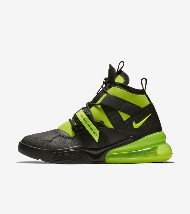 Nike Air Force 270 BlackFluorescent Green Shoes For Sale