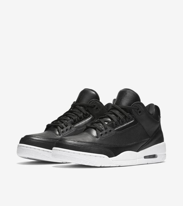 black and white jordan 3