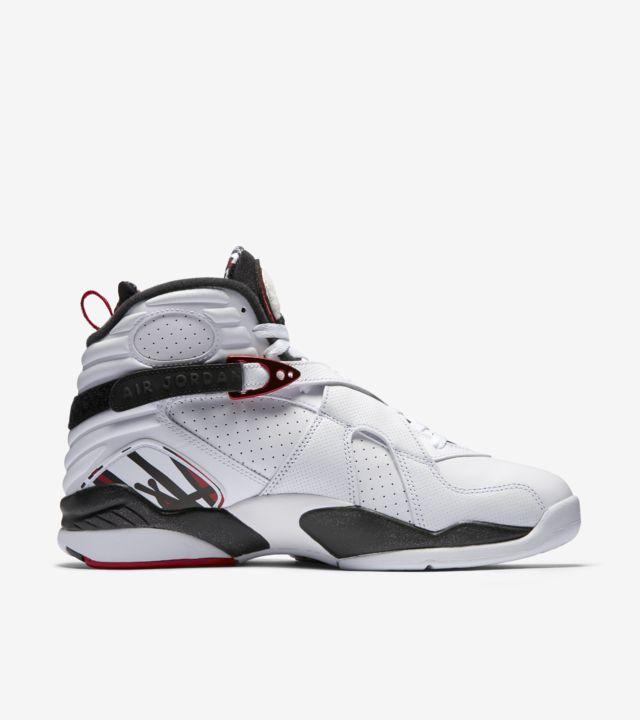 Air Jordan 8 Retro 'White & Black & Gym Red'. Nike SNKRS