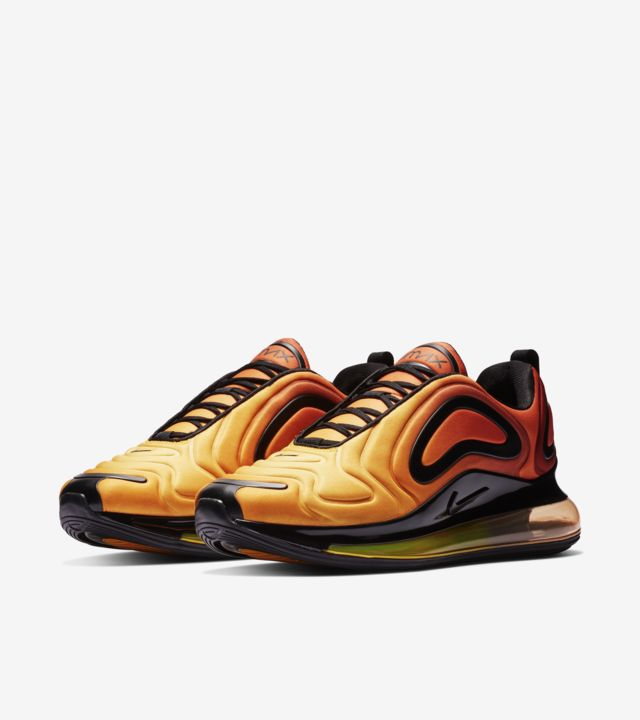"""Nike Air Max 720 """"Sunset"""" Team OrangeBlack University Gold On Sale"""
