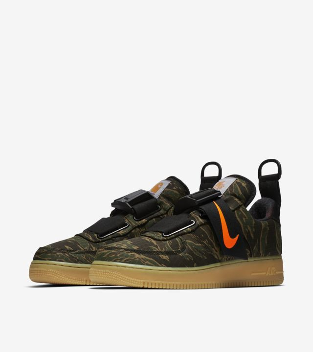 unique design promo code excellent quality Air Force 1 Utility Low Premium Carhartt WIP 'Camo Green & Gum ...