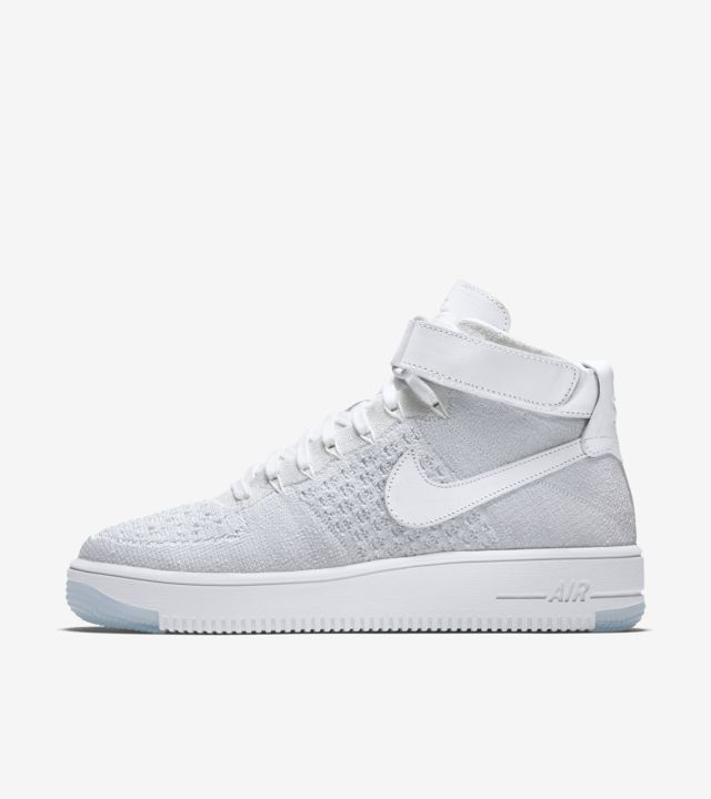 Nike Womens Flyknit Air Force 1 Ultra White