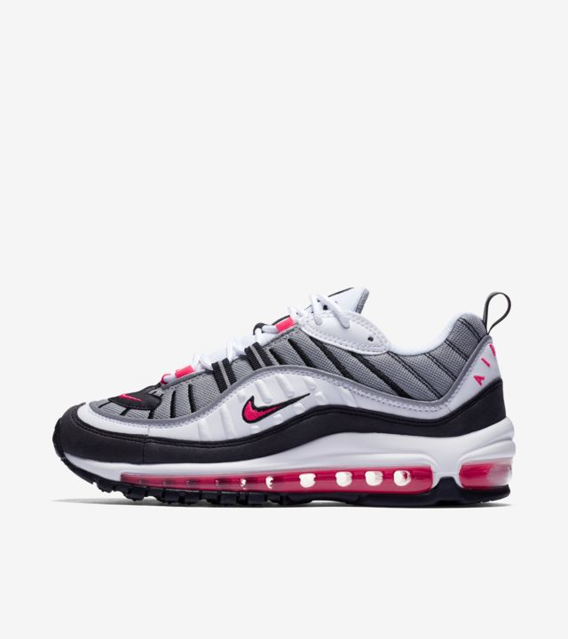 Nike Women's Air Max 98 'White & Solar Red & Reflect Silver
