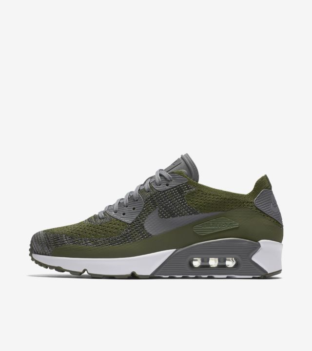 Nike Air Max 90 Ultra 2.0 Flyknit 'Rough Green & Dark Grey