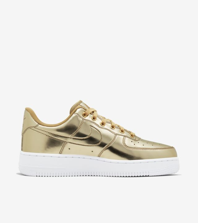 Women's Air Force 1 Metallic 'Gold' Release Date. Nike SNKRS