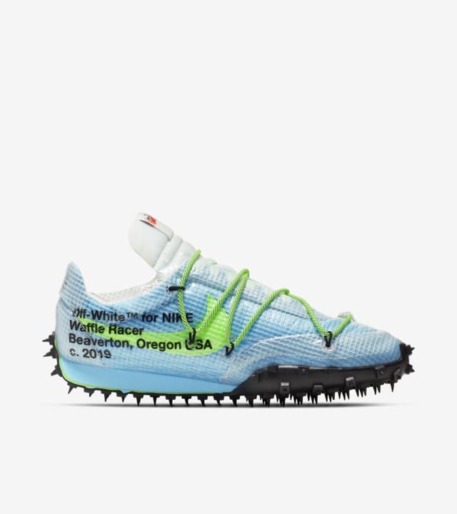 Off White x Nike Waffle Racer Blue